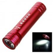 PINDO PD P-S2 Bicicleta 5-Modo Linterna y Mini Altavoz con TF - Rojo