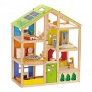 Hape All Season House-Furnished hračkársky domček E3401