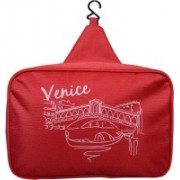 Ruff Travel Cosmetic Makeup Toiletry Case Wash Organizer Storage Pouch Hanging Bag Potli(Red)
