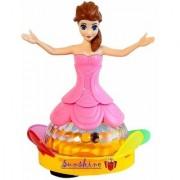 atorakushon Princess Dancing Doll Robot with Music Baby Toy with 360 Rotational 3D LED Lights for Kids Gifts Birthday Gi