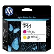 Глава HP 744, Magenta + Yellow, p/n F9J87A - Оригинален HP консуматив - печатаща глава