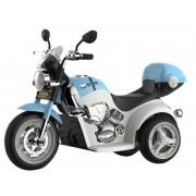 ODG Moto Motocicletta Elettrica Grillo Per Bambini 6v Luci E Suoni Ruote Grandi Azzurro