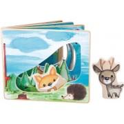 Houten baby boekjes / Plaatjes boek - in het bos - interactief - FSC® - Baby speelgoed vanaf 1 jaar