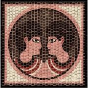Mozaic decorativ ceramica horoscop GEMENI Domenech