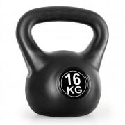 KLARFIT пудовка 16KG тренировъчна & фитнес тежест - черна (FIT-Ketbell 16Kg)