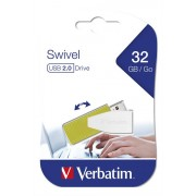 Verbatim USB DRIVE 2.0 STORE N GO SWIVEL 32GB EUCALYPTUS GREEN