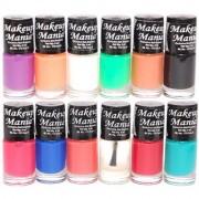 Makeup Mania Nail Polish Set of 12 Pcs (Multicolor Set # 93)