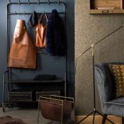 Dutchbone Meuble d'entrée vestiaire porte-manteau en métal finition antique Lucius Dutchbone