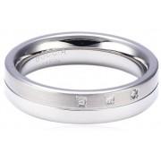 Boccia Titanium Titanový snubní prsten s diamanty 0129-03 52 mm