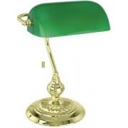 Asztali lámpa 1x60W E27 39cm réz/zöld bura Banker 90967 Eglo