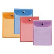 Gross Cart Busta Con Chiusura A Bottone Cm 13X18 Kristall Press Color Sei Rota In Pvc Colori Assortiti