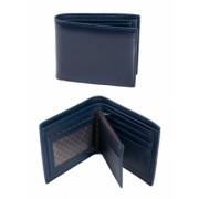 Мъжко портмоне с монетник в син цвят