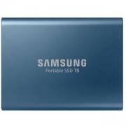 Твърд диск Portable SSD Samsung T5 Series, 500 GB 3D V-NAND Flash, Slim, USB type-C , Metal Blue, MU-PA500B/EU