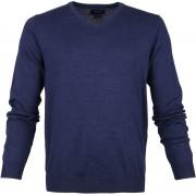 Profuomo Pullover V-Hals Indigo - Blau Größe S