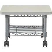 Safco Under Desk Printer/Fax Mobile Stand - Gray, 19Inch W x 16Inch D x 13 1/2Inch H, Model 5206GR