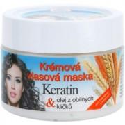 Bione Cosmetics Keratin Grain Creme-Maske für alle Haartypen 260 ml