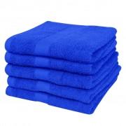 vidaXL Domáce osušky sada 5ks bavlna 500g/m² 100x150cm kráľovská modrá