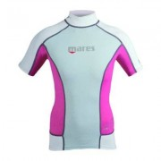 UV-tröja dam Rash Guard kortärmad rosa/vit - Mares (Storlek: 34)