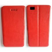 Kалъф - тефтерче със силикон Slim за Huawei P8 Lite - Червен