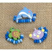 Jewellery - Rings Wooden - Sea Turtle, Dolphin, Fish - Wild Republic