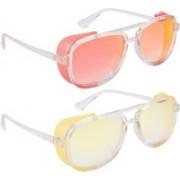 NuVew Wayfarer, Shield Sunglasses(Red, Golden, Yellow, Violet)