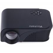 Proyector Projector Youkatu S320 1800 Lumens 800 X 600 Pixels 1500:1 HD English Edition US PLUG -Negro