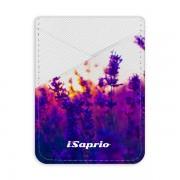 Pouzdro na kreditní karty iSaprio - Lavender Field - světlá nalepovací kapsa