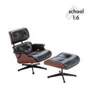Vitra Lounge Chair & Ottoman Miniatuur - Vitra