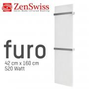 ZenSwiss furo Handtuchtrockner 42 x 160 cm (Matt Weiss)