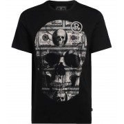 Philipp Plein T-Shirt Philipp Plein Platinum Cut nera con dollari in strass