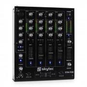 Skytec STM-7010 4-kanals DJ-mixer USB MP3 EQ