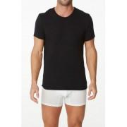 Parker & Max Classic Cotton Stretch Crew Neck Short Sleeved T Shirt Black PMFPCS-TCN1