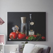 Tablou Canvas Condiemnte si legume bucatarie
