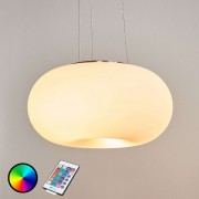 Remote-controlled LED hanging light Optica-C RGBW