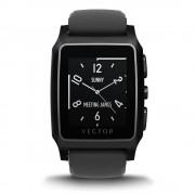 Vector Meridian Smart Watch - луксозен Bluetooth тъч часовник за iOS, Android и Windows смартфони (черна силиконова каишка)