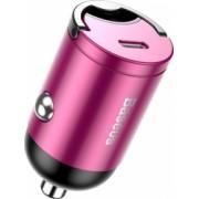 Incarcator Auto cu Incarcare Rapida / Quick Charge 5A 30W Mufa USB-C Baseus Tiny Star Roz