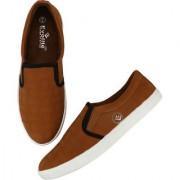 Evolite Tan & White Slip on Sneakers Stylish Loafer for Men & Boys