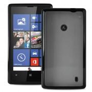 Nokia Lumia 520, Lumia 525 Puro Clear Silicone Case - Black