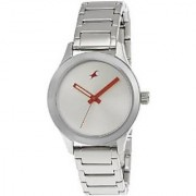 Fastrack Quartz Silver Dial Women Watch-6078SM02