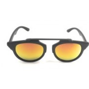 shahcollections Round, Cat-eye Sunglasses(Yellow, Red)