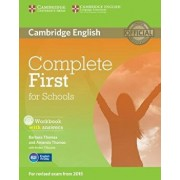 Complete First for Schools Workbook with Answers [With CD (Audio)], Paperback/Barbara Thomas