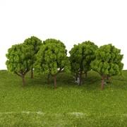 ELECTROPRIME® 60 Light/Dark Green Trees N Scale Model Train Layout Park Street Scenery 8cm