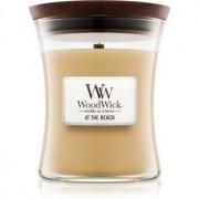 Woodwick At The Beach lumânare parfumată cu fitil din lemn 275 g