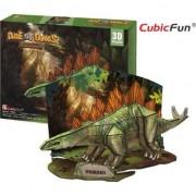 Joc puzzle 3D, CubicFun, Stegozaur Age of Dinos, 49 piese, 35.4x17.5x18.4 cm