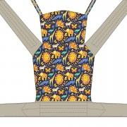 Nandu ÖKO Totyogó Mei Tai hordozó - Szafaris drapp pánttal