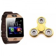Mirza DZ09 Smart Watch and Fidget Spinner for SONY xperia go(DZ09 Smart Watch With 4G Sim Card Memory Card| Fidget Spinner)