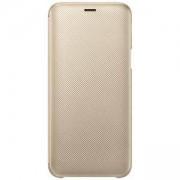 Калъф за Samsung J6 Wallet Cover Gold, Златист, EF-WJ600CFEGWW