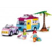 Sluban Bouwstenen Girl's Dream Auto met Caravan