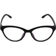 Aligatorr Stylish Cat Eye White Sunglass In Black Frame