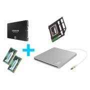 Kit SSD Samsung 850 EVO 500 Go + 8 Go RAM (2x4) + baie + boîtier graveur